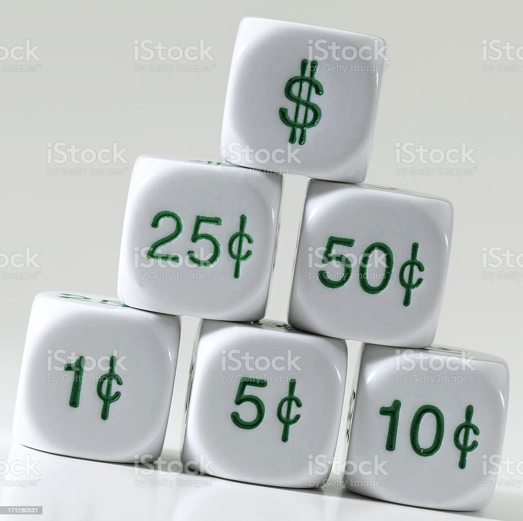 Dollars & Cents stock photo