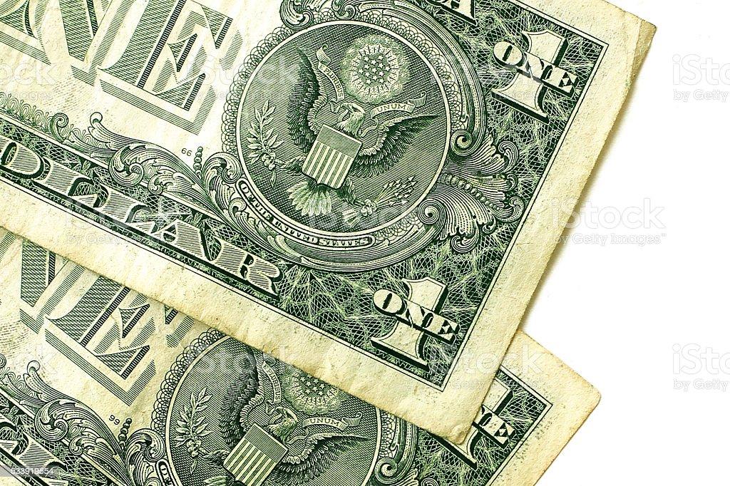 Dollars closeup fragment stock photo