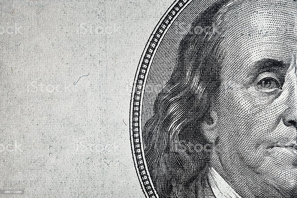Dollars closeup. stock photo