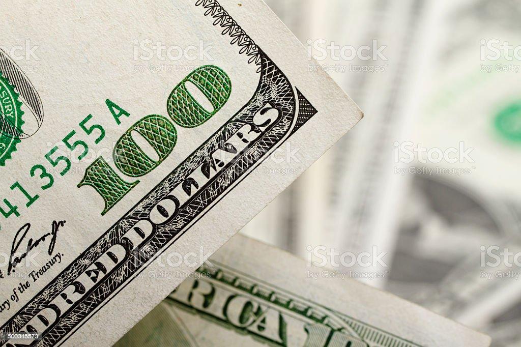 Dollar's detail stock photo