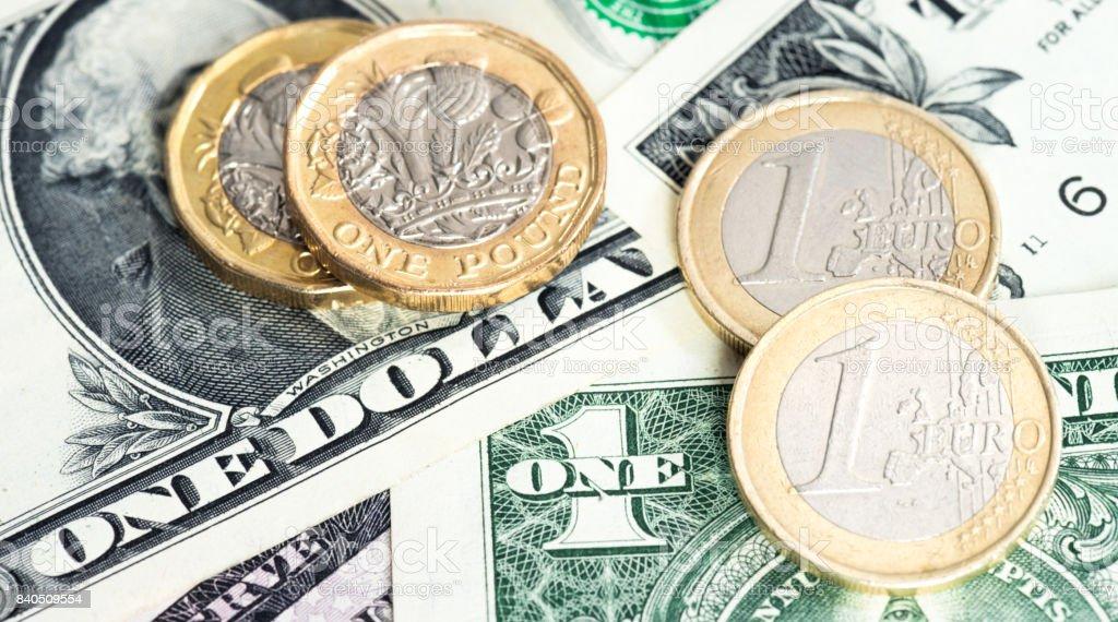 Usdollar Euro Und Britische Pfund Stock Fotografie Und Mehr Bilder