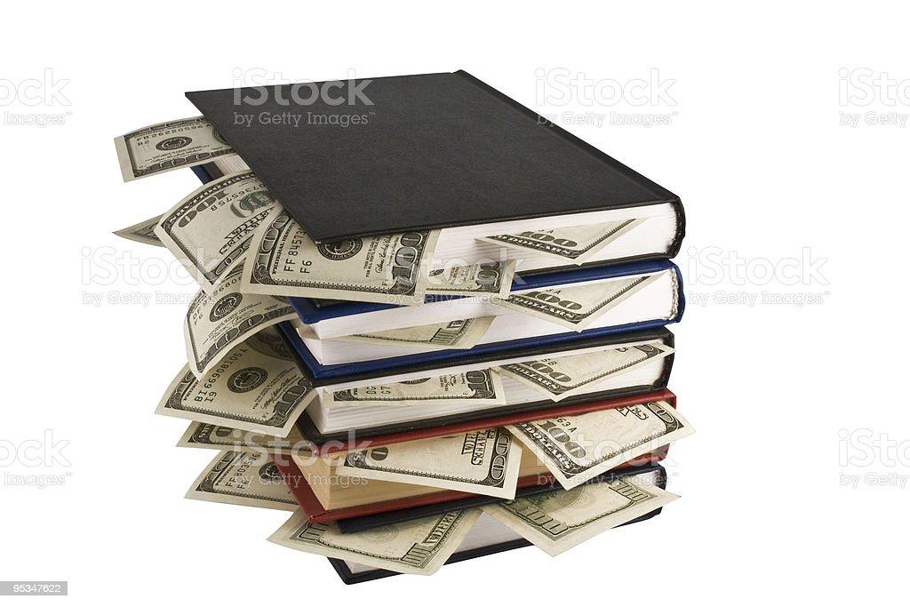 Dollars in book stock photo