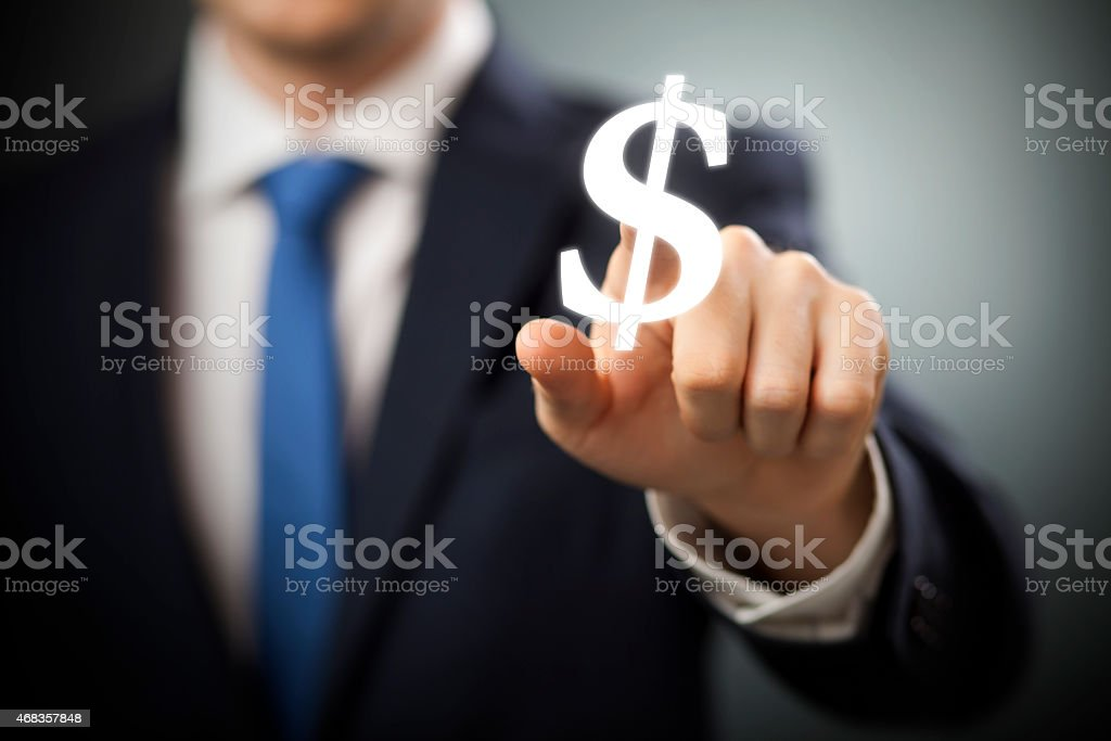 Dollars interface royalty-free stock photo