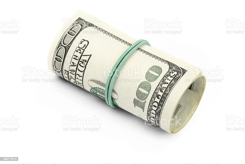 Dollaro isolato foto stock royalty-free