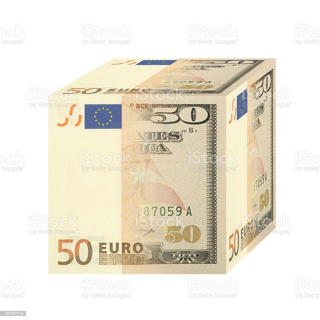 Dollars merged into Euros royalty-free stock photo