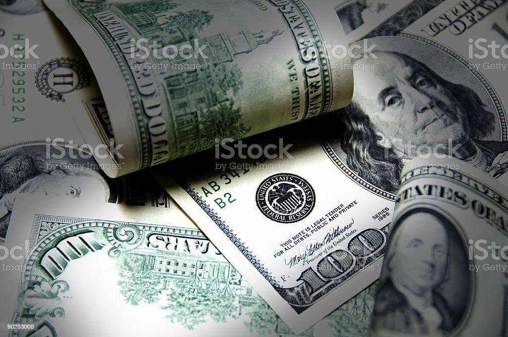 US Dollars  - money background stock photo