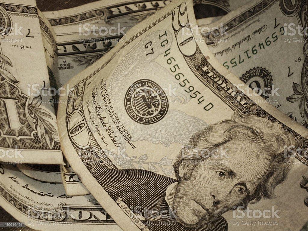Dollars stock photo