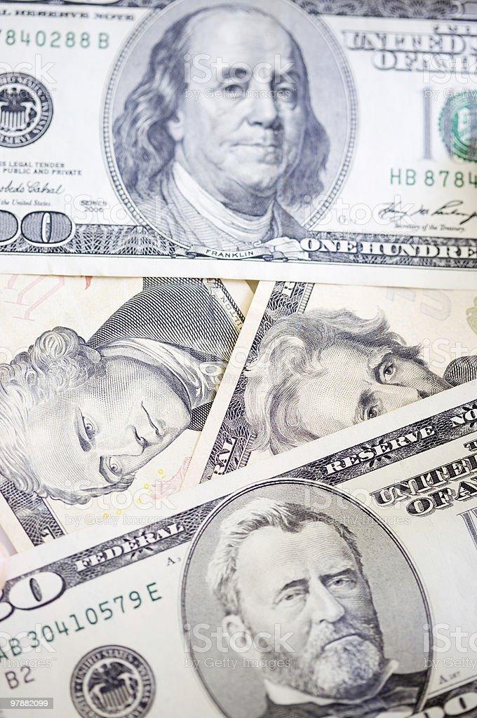 US Dollars royalty-free stock photo