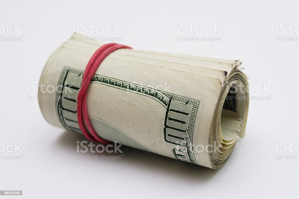 Dollars 100 royalty-free stock photo