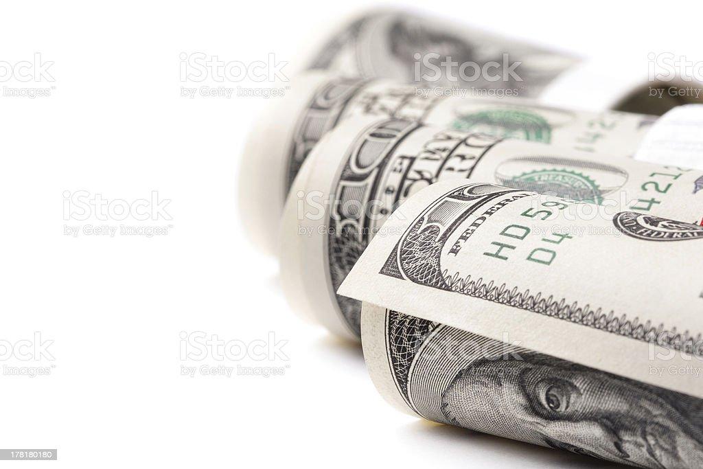 Dollars roll royalty-free stock photo
