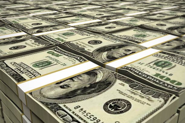 dollar-stack - haufen stock-fotos und bilder