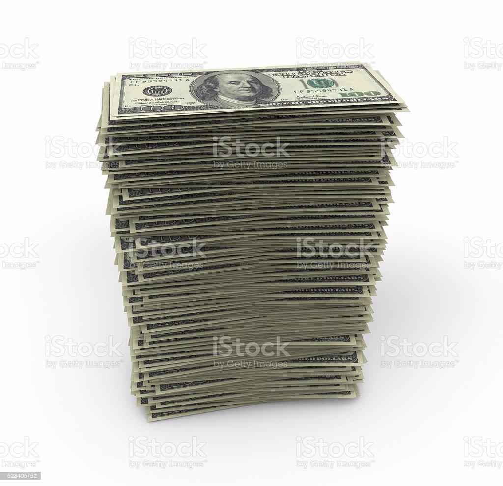 Dollars Stack stock photo