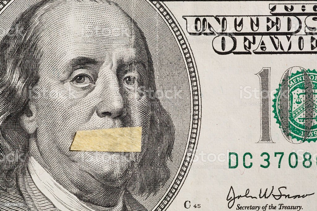 Dollars USA, as a symbol of instability of economy stock photo