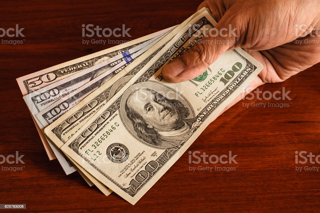 Dollars, USA currency - Show me the Money - foto de stock