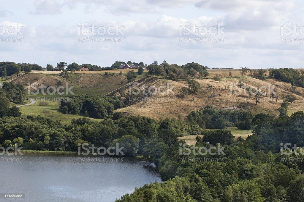 Dollerup Hills - Viborg, Denmark stock photo