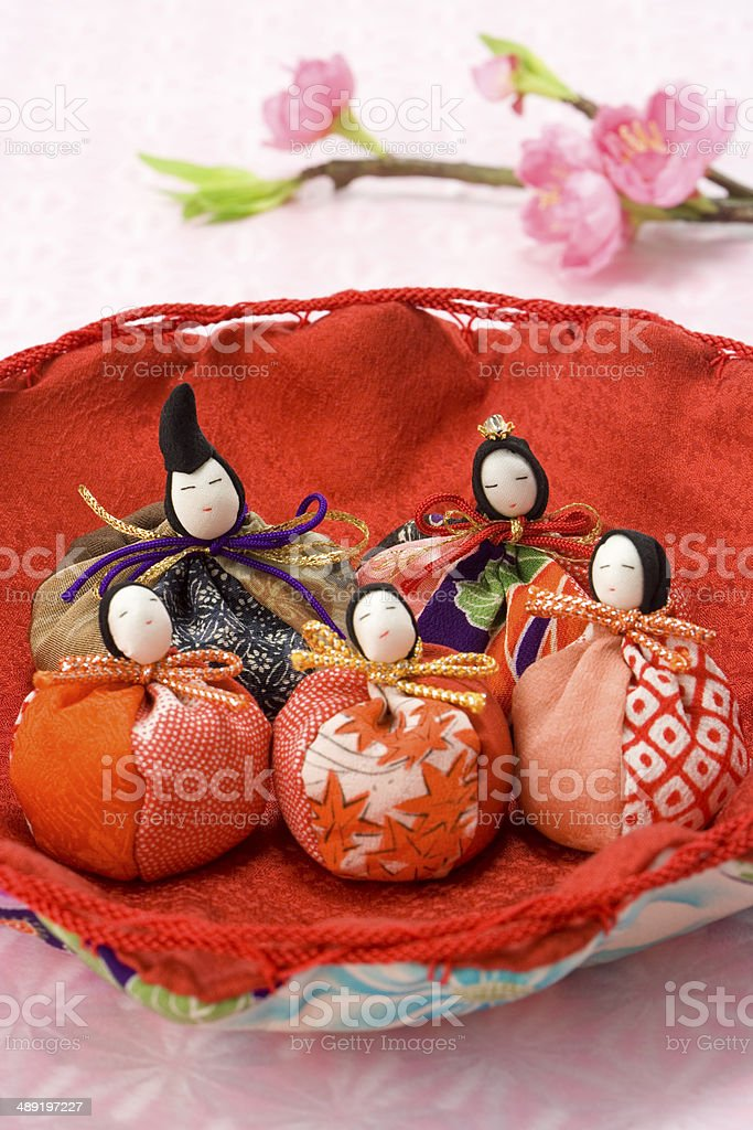 Dolls decorations for the Girls' Festival royalty-free stock photo