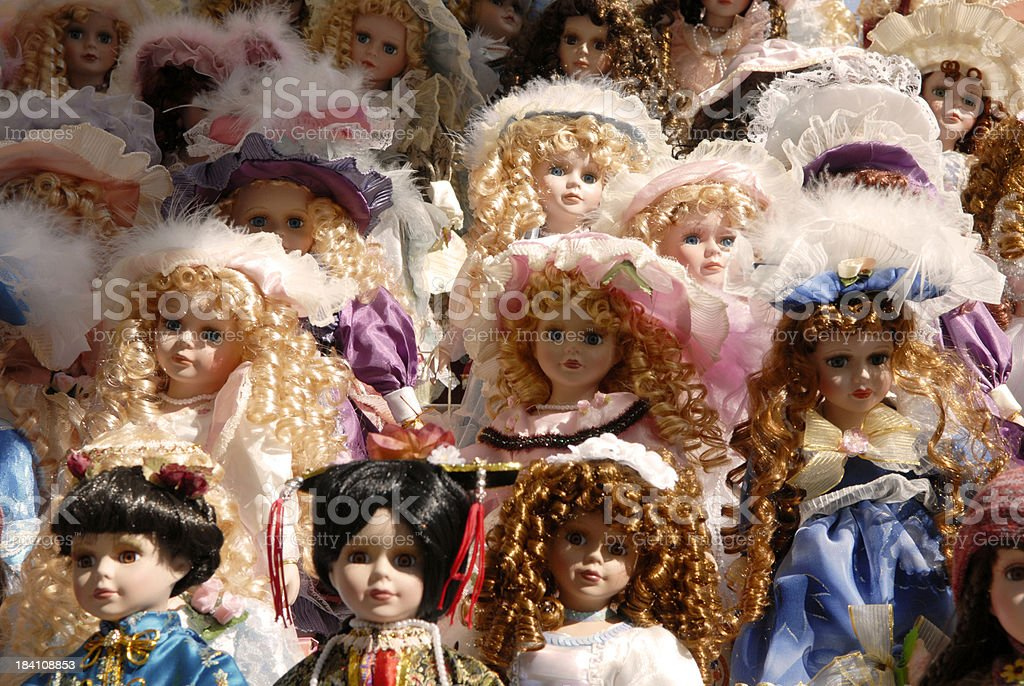 Dolls everywhere stock photo