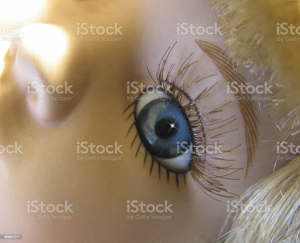 Doll's eye royalty-free stock photo