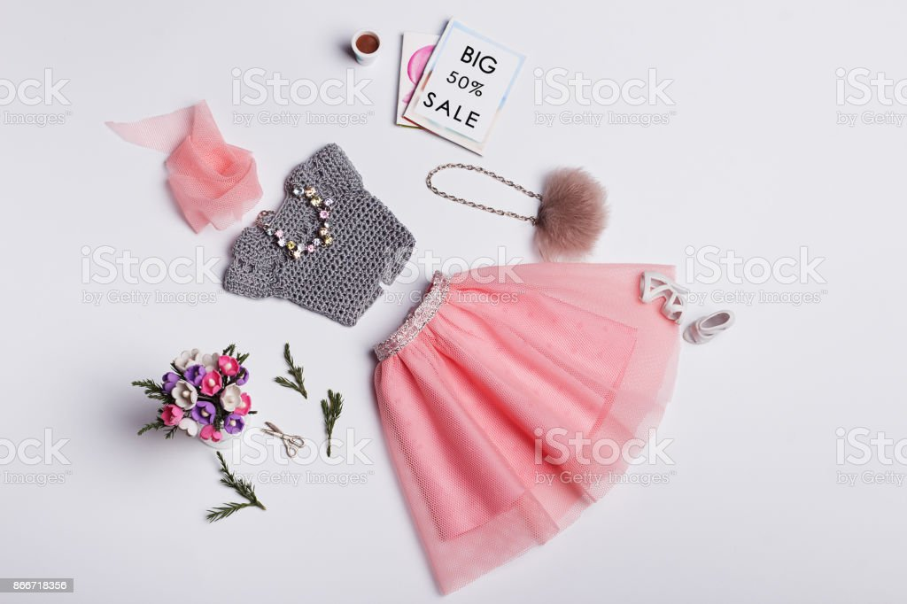Doll's Fashion and beauty stock photo