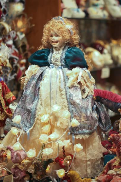 Dolls in Venice stock photo