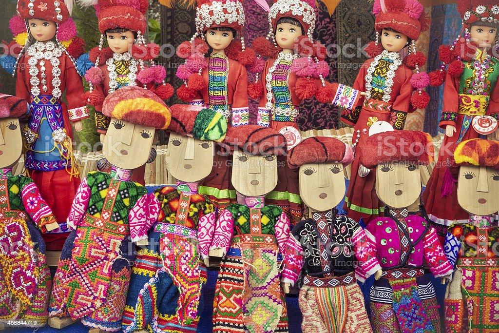 Dolls - Mountain Tribes of Vietnam stock photo