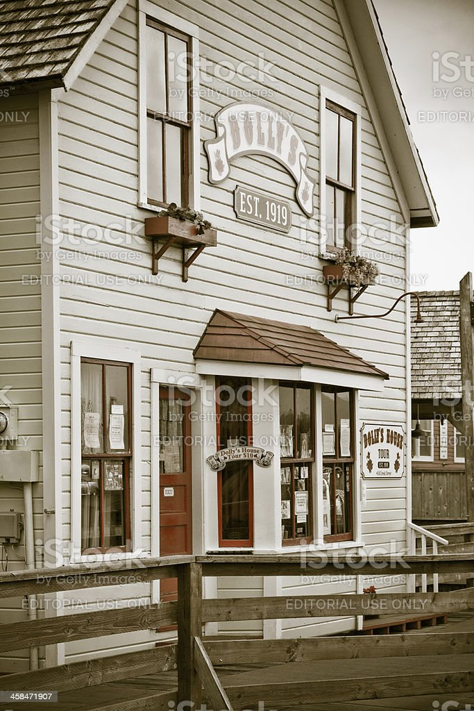 Dolly's House on Creek Street in Ketchikan Alaska stock photo