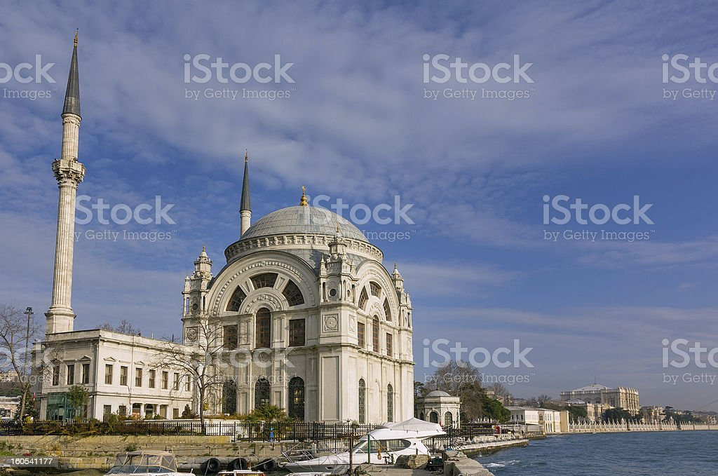 Dolmabahce Mosque, Istanbul, Turkey royalty-free stock photo
