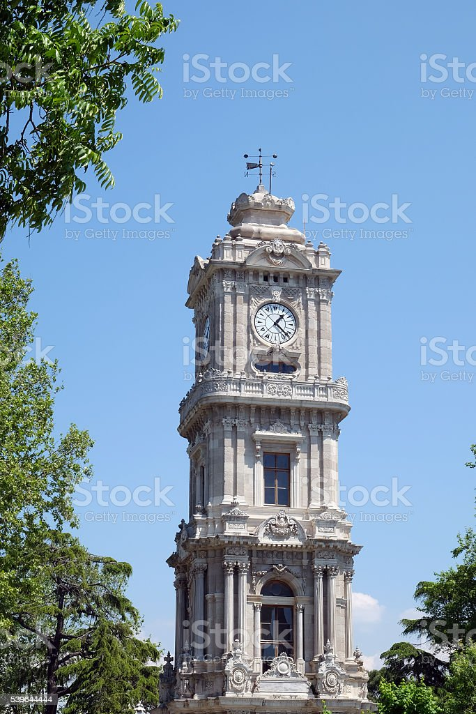 Dolmabahçe Clock Tower stock photo