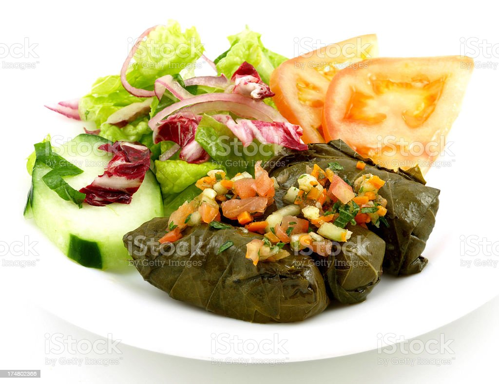 Dolmades stock photo