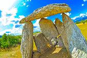 Dolmen of Sorginetxe, Arrizala, Agurain- Salvatierra, Alava, Basque Country, Spain, Europe