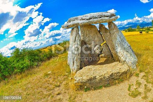 Dolmen of Sorginetxe, Arrizala, Agurain- Salvatierra, Álava, Basque Country, Spain, Europe
