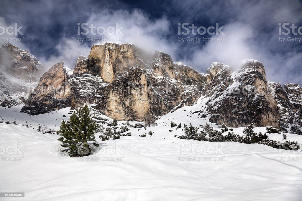 Dolomite Mountains, Italy stock photo