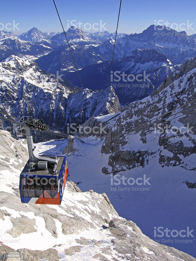Dolomite Ski lift stock photo