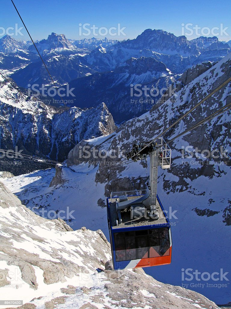 Dolomite Skilift stock photo