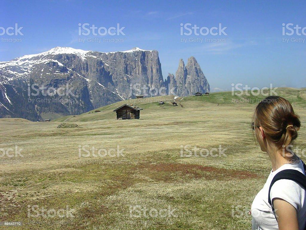 Dolomite views royalty-free stock photo