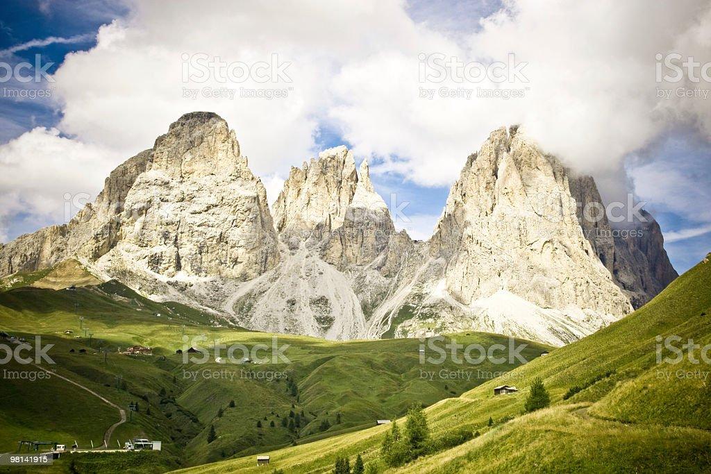 Dolomites, Alpine Mountain Landscape, Italy royalty-free stock photo
