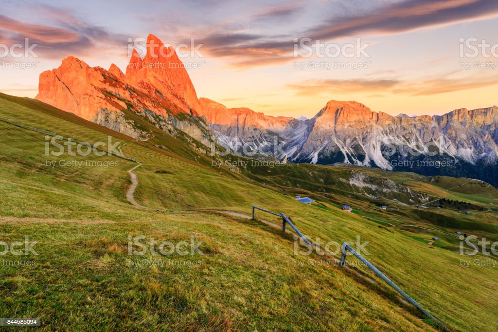 Dolomites Alps in Summer stock photo