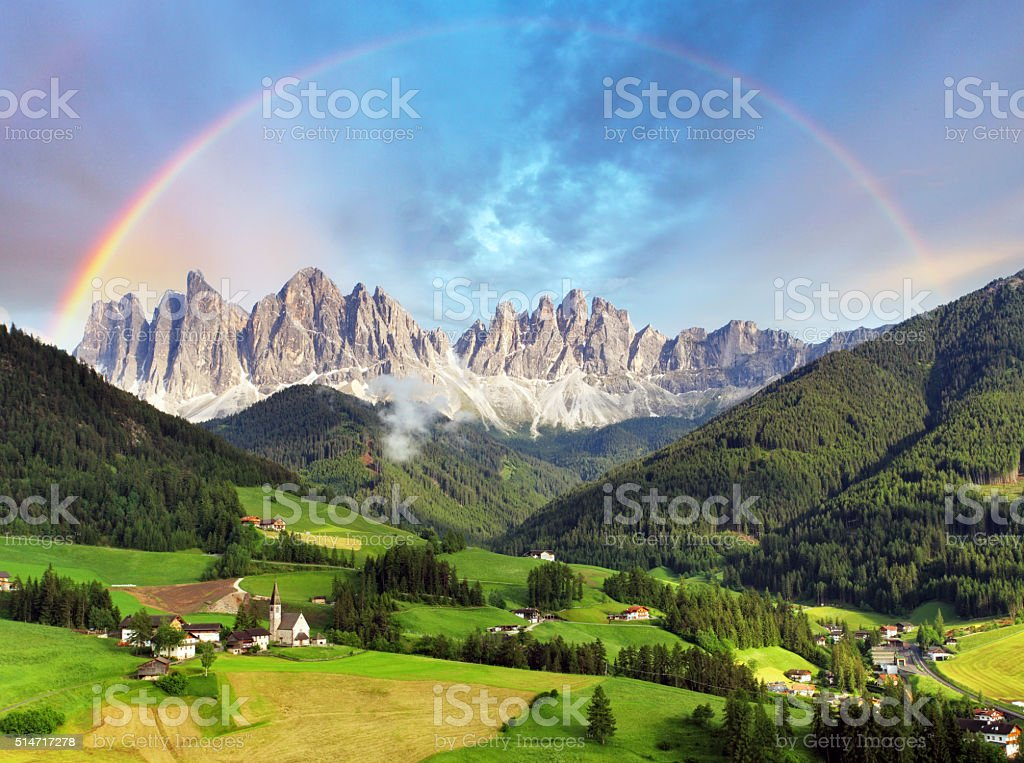 Dolomites alps, Mountain - Italy stock photo
