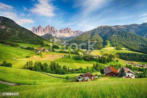 istock Dolomites alps, Mountain - Val di Funes 479684470