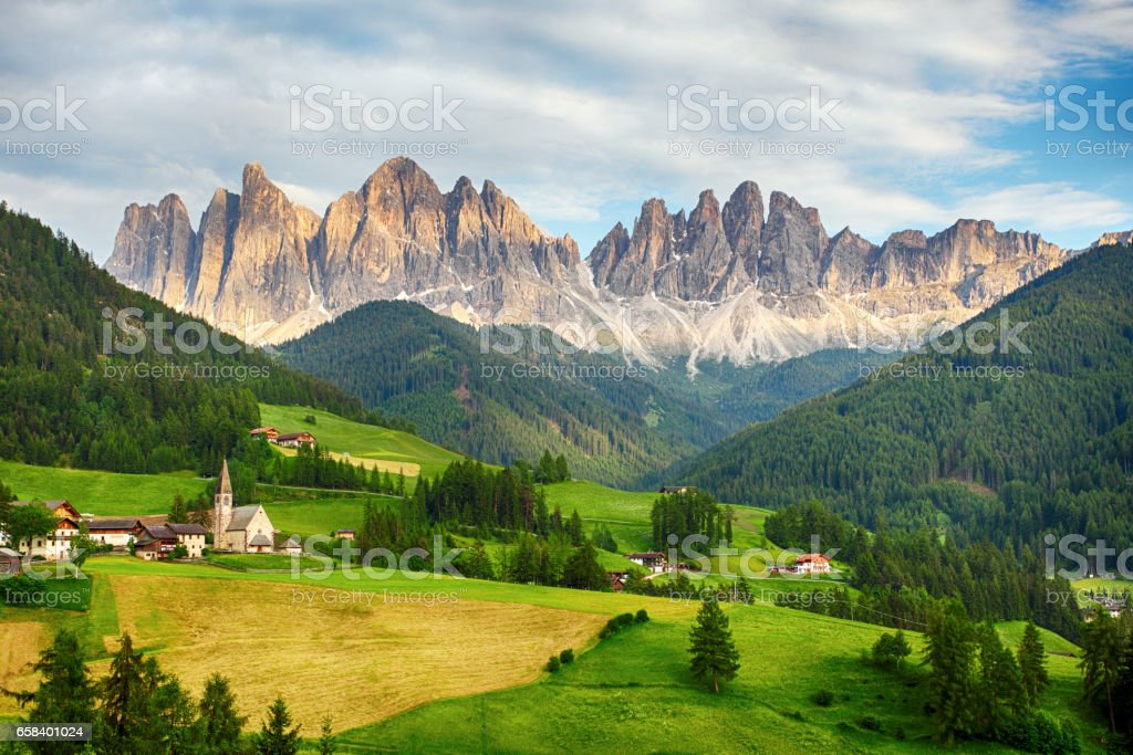 Dolomites alps, Mountain - Val di Funes stock photo