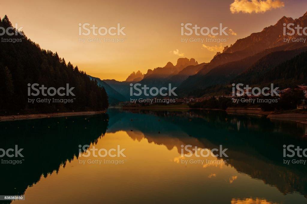 Dolomites Auronzo Di Cadore - foto stock