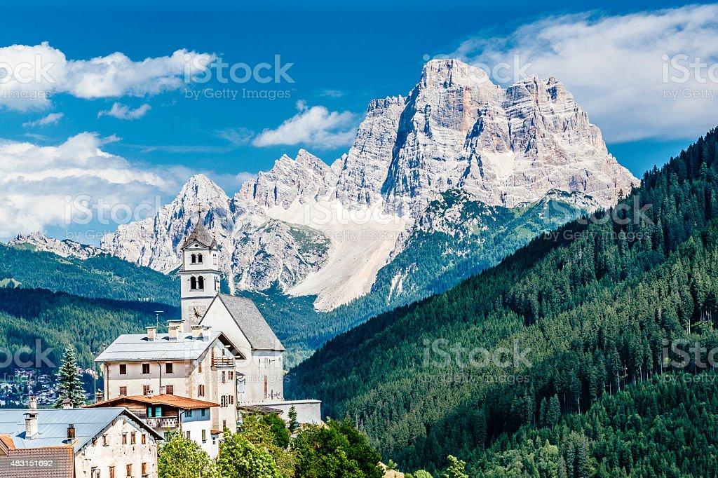 Dolomites in Italy stock photo