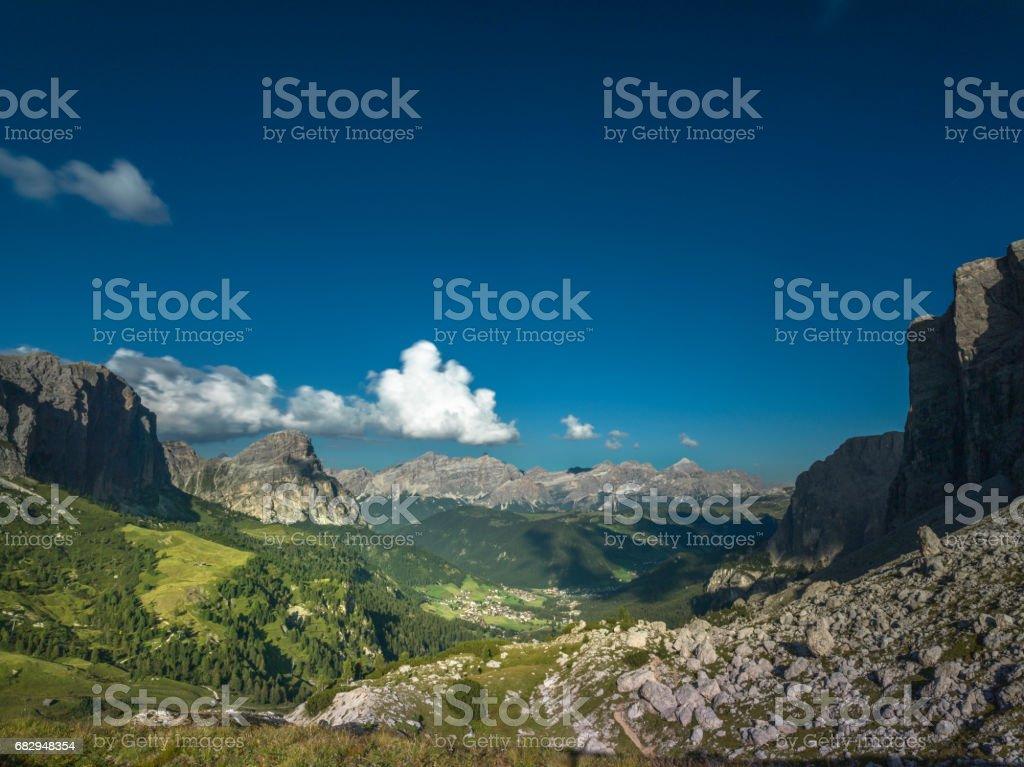 Alpes dolomíticos en Italia  foto de stock libre de derechos