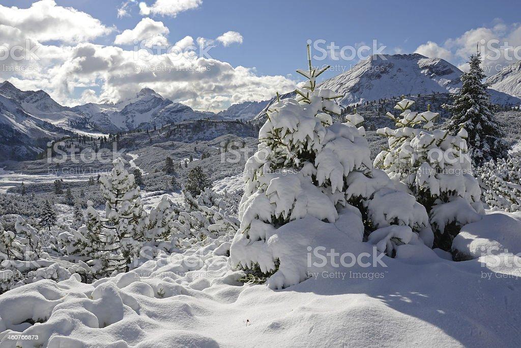 Dolomites in September royalty-free stock photo