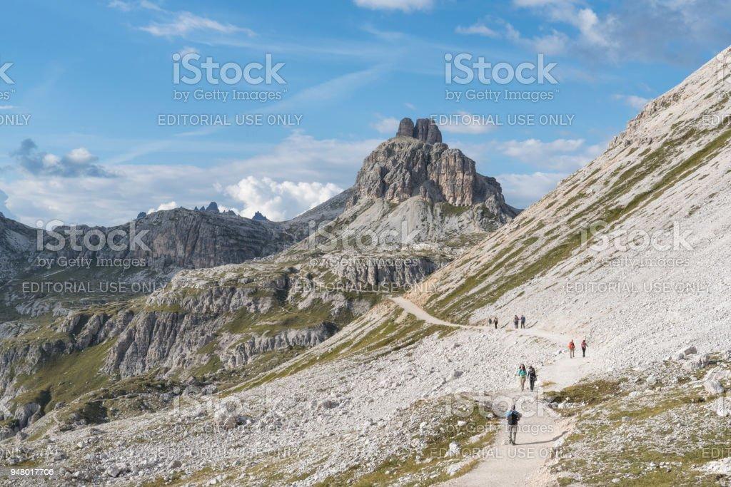 dolomites in Trentino stock photo