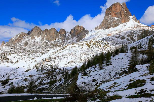 Italienischen Alpen-Dolomiten Giau Pass mountain Road, in der Nähe von Cortina – Foto