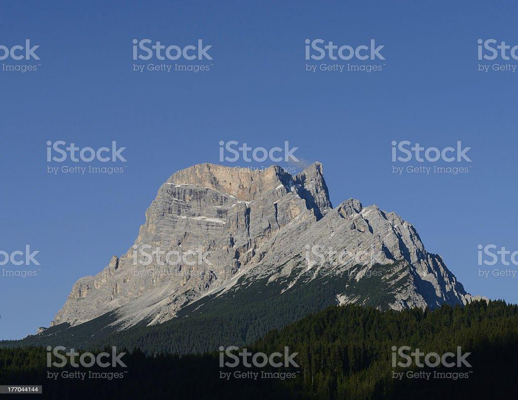 Dolomites Italian Alps, Mt Pelmo stock photo