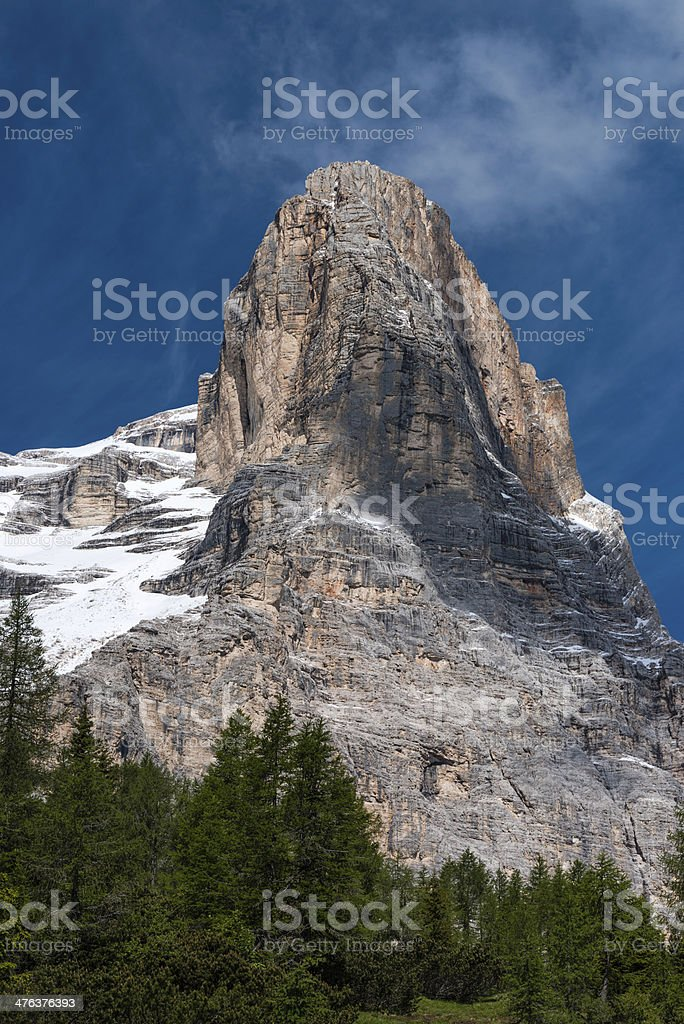 Dolomites Italian Alps, Mt Pelmo royalty-free stock photo