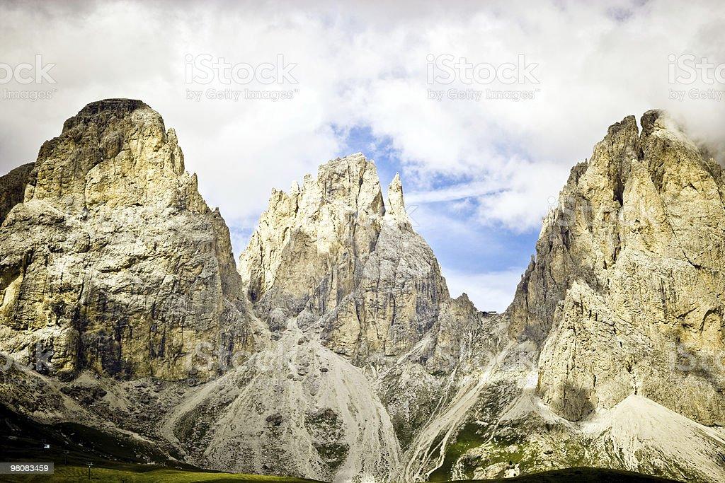 Dolomites, Italian Alps, Passo Sella royalty-free stock photo