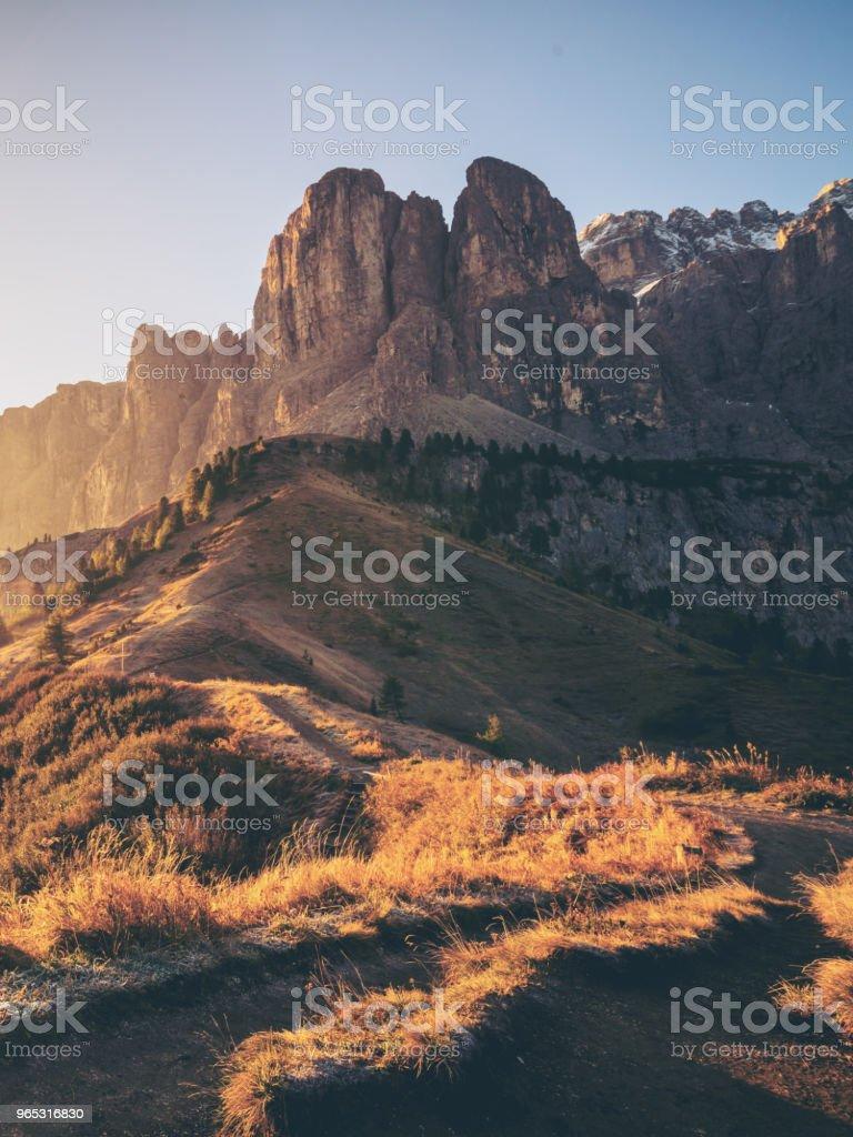 Dolomites, Italy Landscape at Passo Gardena. royalty-free stock photo